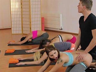 Yoga Coach Bangs Two Hot Babes Porn Videos