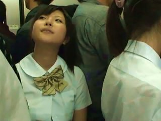 Cute School Chick Gets Busy In The Public Bus